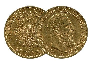 20 Mark Goldmünzen